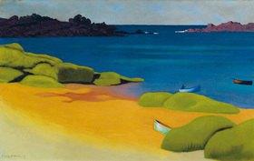 Felix Vallotton: Die Bucht von Tregastel, Öl auf Leinwand, 55 x 87 cm
