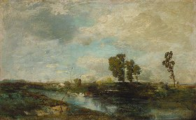 Toni von Stadler: Schwere Wolken überm weiten Dachauer Moos