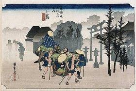 Utagawa Hiroshige: Morgen-Nebel in Mishima. Aus der Serie 'Die 53 Stationen des Tokaido'