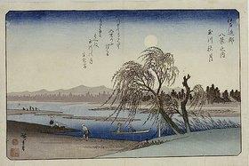 Utagawa Hiroshige: Autumn Moon over Tama River. From the series 'Eight Views of the Environs of Edo'