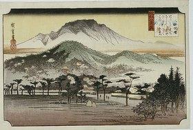 Utagawa Hiroshige: Evening Bell at Mii Temple. From the series 'The Eight Views of Lake Biwa'