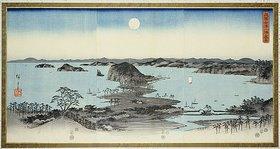 Utagawa Hiroshige: Night View of Eight Excellent Sceneries of Kanazawa in Musashi Province