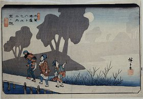 Utagawa Hiroshige: Miyanokoshi, Station 27', from the series, 'Sixty-Nine Stations of the Kisokaido'