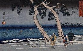 Utagawa Hiroshige: Hamamatsu' from the Reisho Tokaido series