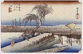 Utagawa Hiroshige: Der Fluß Mie nahe Yokkaichi. Aus der Serie 'Die 53 Stationen von Tokaido'