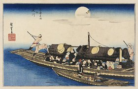 Utagawa Hiroshige: Der Fluß Yodo. Aus der Serie 'Berühmte Ort Kyotos'
