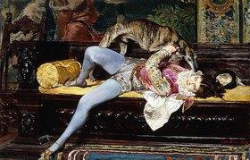 Giovanni Boldini: Ein junger Page, mit einem Windhund spielend