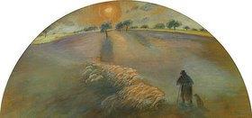 Camille Pissarro: Schäfer mit seiner Herde (Berger et Moutons)