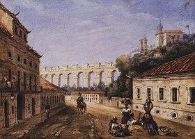 William Gore Ouseley: Aquädukt und das Kloster der heiligen Teresa in Rio de Janeiro