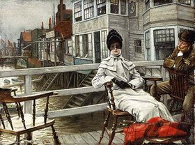 James Jacques Tissot: In Erwartung des Bootes (Greenwich)