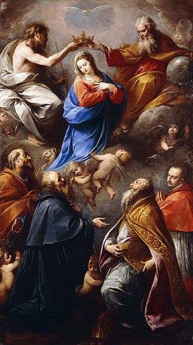 Carlo Francesco Nuvolone: Marienkrönung mit den Heiligen Petrus, Paul, Ambrosius und Karl Borromäus