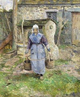 Camille Pissarro: Mutter Presle, Montfoucault