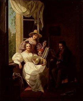 Basile de Loose: Musikalische Gesellschaft in einem Innenra