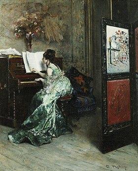 Raimundo de Madrazo y Garreta: Dame beim Klavierspiel