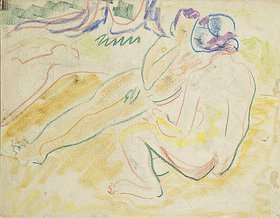 Ernst Ludwig Kirchner: Zwei liegende Akte (verso)