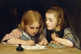 Albert Anker: Der Schreibunterricht