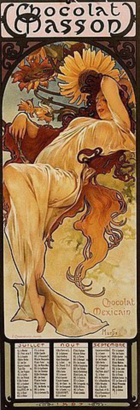 Alfons Mucha: Chocolat Masson - Winter