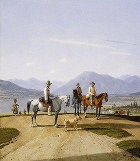 Wilhelm von Kobell: Reiter am Tegernsee