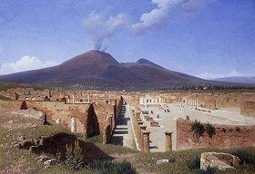 Louis Spangenberg: Der Vesuv, Blick von Pompeji