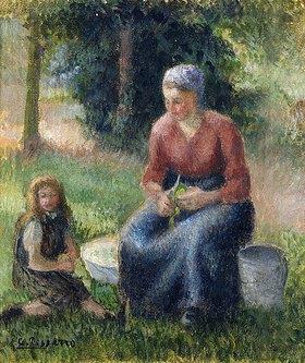 Camille Pissarro: Bäuerin in Eragny