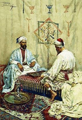 Giulio Rosati: Araber beim Backgammon Spiel