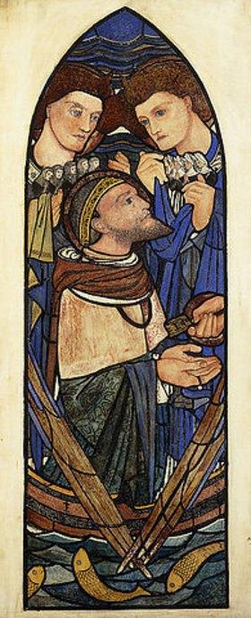 Sir Edward Burne-Jones: Petrus am See Genezareth (Entwurf für ein Glasfenster der Firma James Powell and Sons)
