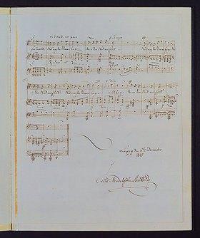 Felix Mendelssohn Bartholdy: Eigenhändiges Manuskript von 'Im Frühling', Opus 9 Nr. 4. Datiert 6. Dezember