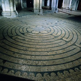 Labyrinth in der Kathedrale von Chartres