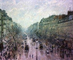 Camille Pissarro: Der Boulevard Montmartre im Morgennebel (Le Boulevard Montmartre Matin Brumeux)