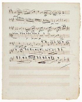 Ludwig van Beethoven: 15. Streichquartett in a-moll op. 132. Manuskript eines Kopisten. Wien