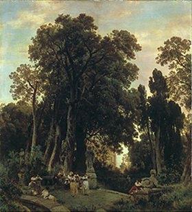Oswald Achenbach: Italienischer Park