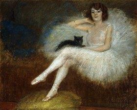 Pierre Carrier-Belleuse: Ballerina mit schwarzer Katze