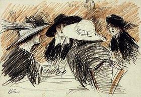 Paul César François Helleu: Vos Chapeux: Damen im Ritz, New York