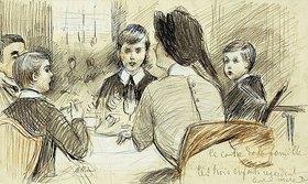 Paul César François Helleu: Eine Familie beim Abendessen im Ritz, New York