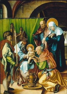 Albrecht Dürer: Altar: Die sieben Schmerzen der Mariae. Tafel oben links
