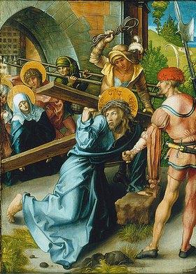 Albrecht Dürer: Altar: Die sieben Schmerzen der Mariae. Tafel oben links. Detail: Untere, mittlere Tafel