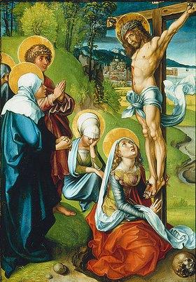 Albrecht Dürer: Altar: Die sieben Schmerzen der Mariae. Tafel oben links. Detail: Mittige Tafel der rechten Seite