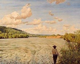 Hans Thoma: Der Rhein bei Säckingen