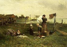 Mari (Johann M. Henri) Ten Kate: Beim Wäscheaufhängen