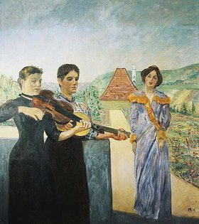 Max Klinger: Drei Frauen im Weinberg. 1912