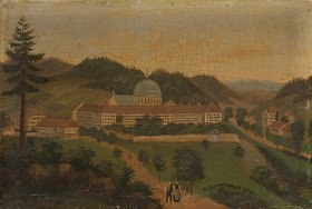 Hans Thoma: Schwarzwald-Landschaft mit St. Blasien