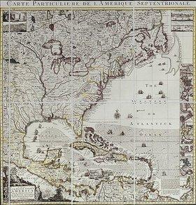 Henry Popple: Karte des Britischen Empire in Amerika mit den französischen, spanischen, und niederländischen Siedlungen adjacent thereto. Cir