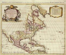 Frederick de Wit: Atlas Major. Karte von Nordamerika. Publiziert