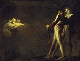 Johann Heinrich Füssli: Macbeth und Banquo erscheinen die Drei Hexen