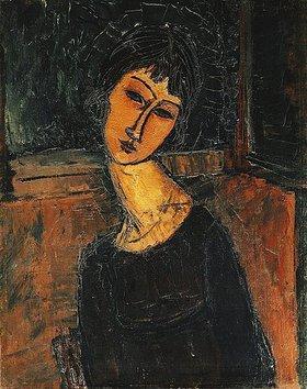 Amadeo Modigliani: Jeanne Hebuterne (Das Porträt zeigt die Geliebte und spätere Ehefrau des Künstlers.)