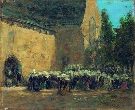 Eugène Boudin: Ein Bußgottesdienst in Benodet (Un Pardon à Benodet)