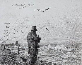 Andreas Achenbach: Alter Mann am Meer