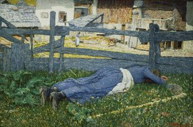 Giovanni Segantini: Schattiger Ruheplatz