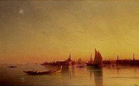 Iwan Konstantinovich Aiwassowskij: Blick von der Lagune auf Venedig bei Sonnenuntergang