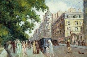 Maximilien Luce: Straßenszene in Paris